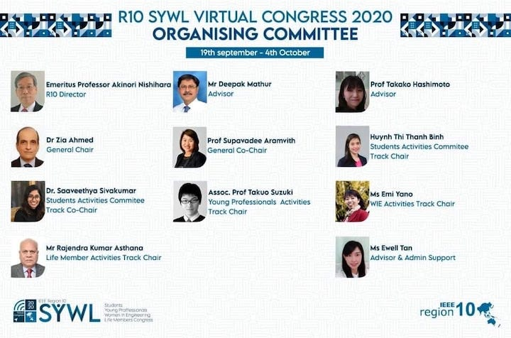 2020 R10 SYWL Congress Organizing Committee