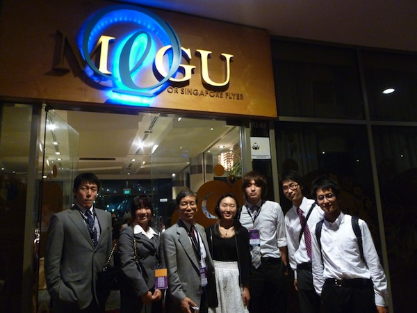 Prof. Nishihara and 6 undergraduate students at the banquet