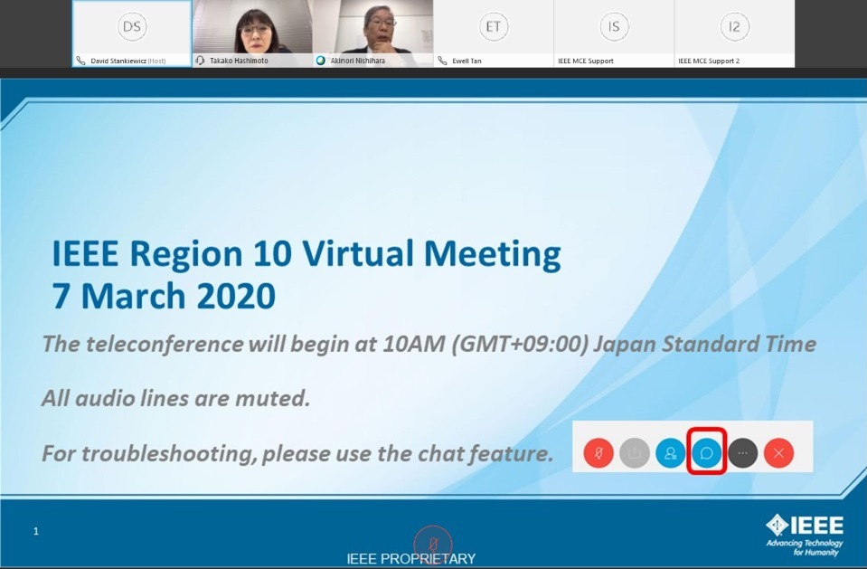 IEEE Region10 Virtual Meeting 2020