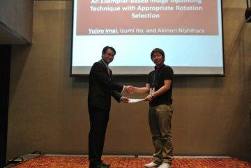 Imai received Best Paper Award