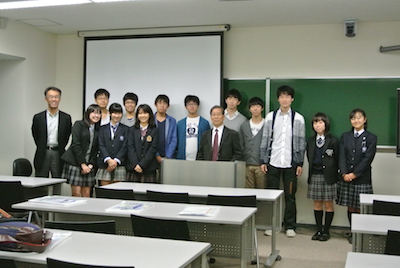 Twelve Koishikawa students + one teacher visited us.