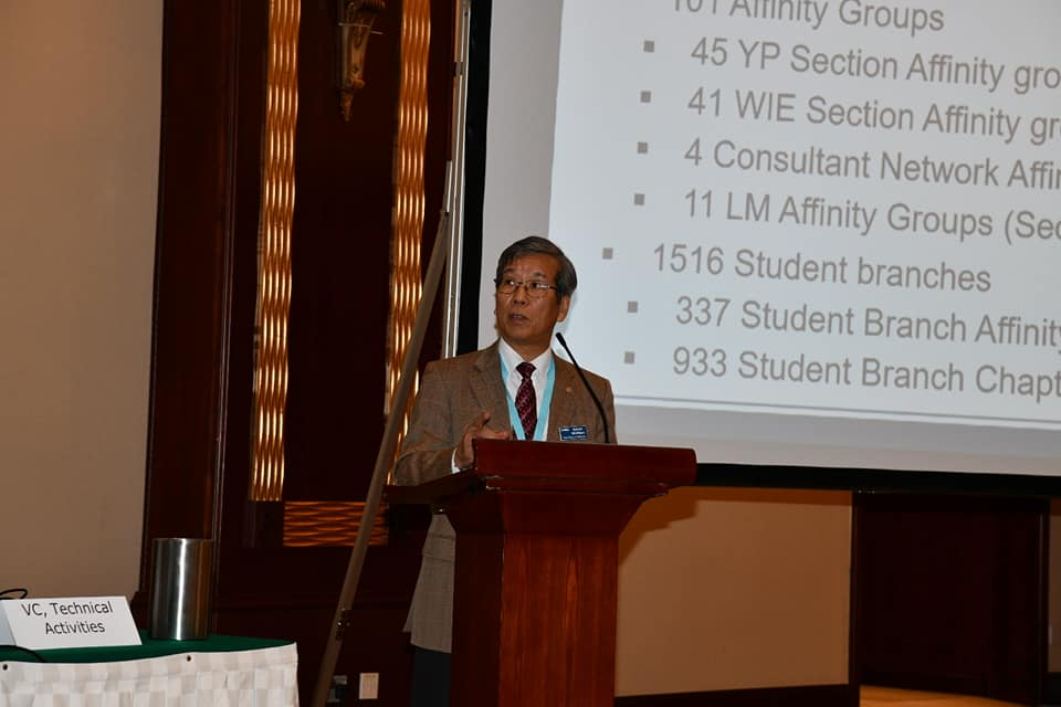 Prof. Nishihara presents on Region 10